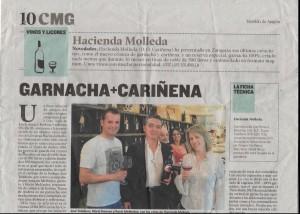 Presentación de vino de autor Tierra de Andros y GHM Cariñena + garnacha