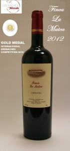 GOLD MEDAL FINCA LA MATEA GRENACHE 2012 HACIENDA MOLLEDA WINERY